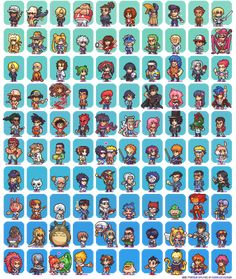 100 Manga and Anime Sprites by Neoriceisgood on deviantART
