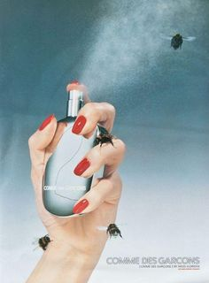 V Magazine January, 2000 Comme des Garçons 2 Photographer: Miles Aldridge Blue Perfume, Perfume Bottles, Beauty Editorial, Editorial Fashion, Comme Des Garcons Perfume, Editorial Photography, Fashion Photography, Photography Magazine, Perfume Adverts