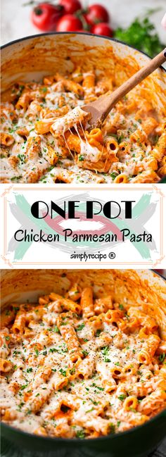 One pot chicken parmesan pasta simply recipes chicken recipe Chicken Parmesan Pasta, Chicken Pasta Recipes, Easy Pasta Recipes, Dinner Recipes, Cooking Recipes, Chicken Pasta Easy, Chicken Meals, Chicken Flavors, Dinner Ideas