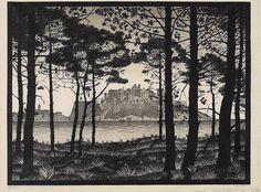 M.C. Escher (Dutch, 1898-1972): Pineta of Calvi, Corsica; June 1933.