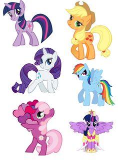 Festa Do My Little Pony, My Little Pony Set, My Little Pony Unicorn, My Little Pony Birthday Party, My Little Pony Pictures, My Little Pony Printable, Wings Drawing, Unicorn Drawing, Little Poni