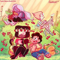 The Crystal Gems and Steven