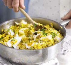 Kedgeree. Threw in some peas for extra colour and used unsmoked haddock. Yum. Could have been a little spicier.