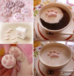 Cat paws marshmallows