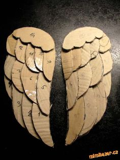 Angel Wings Painting, Angel Wings Drawing, Diy Angel Wings, Angel Wings Wall Decor, Diy Wings, Diy Halloween Costumes, Halloween Crafts, Christmas Crafts, Diy Angels