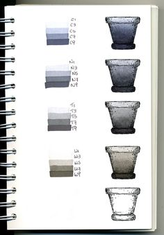 Copic Swatch Book - grays - bjl