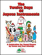Twelve Days Of Joyous Instruments, The - by Teresa and Paul Jennings - It is great fun and a unique educational opportunity to gather lots of students together to play in an instrumental ensemble. Many of you enjoyed A Joyous Holiday For Joyous Instruments, so by popular demand, we have created another holiday spectacular that brings together kazoos, Boomwhackers®, and a host of favorite classroom instruments.