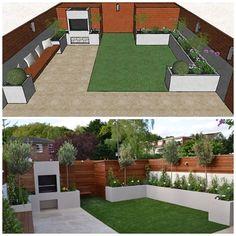 Garden Design London Contact anewgarden for more information Garden Design London, Back Garden Design, Modern Garden Design, London Garden, Garden Design Ideas On A Budget, Modern Design, Small Garden Landscape, Garden Spaces, Landscape Design
