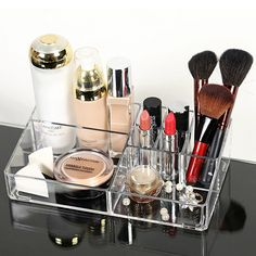 Functional Transparent Plastic Nail Polish Lipstick Cosmetic Makeup Organizer Crystal Acrylic Dress Desktop Storage Box-in Storage Boxes & Bins from Home & Garden on Aliexpress.com | Alibaba Group