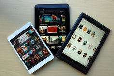 iPad Mini vs. Kindle Fire HD 8.9 vs. Nook HD+. Here's how they compare.