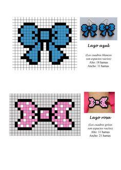 Lazos ribbons hama beads pattern