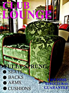 Deco Retro And Club Lounge Suite Made To Order Factory Direct Australian FACTORY