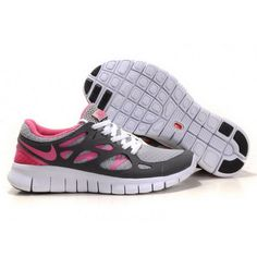 newest d6ad7 46b1f Women Nike Free Run 2 Shoes Gray White Pink Cheap Sneakers, Nike Sneakers,  Nike