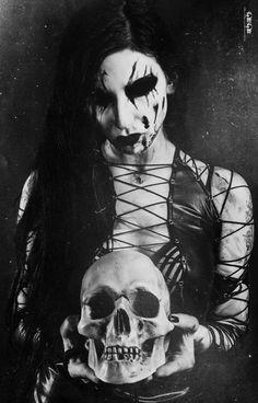 satanic priestess 666 — Black Metal Girl by ABBTH Black Metal, Heavy Metal, Dark Gothic, Gothic Art, Maleficarum, Steampunk, Dark Photography, Metal Girl, Dark Beauty