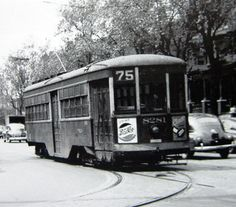 PHILA.  PETER WITT  TROLLEY OPERATING ON RT. 75.