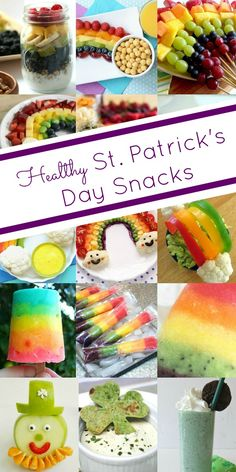 Try these healthy rainbow and St. Patrick's Day snacks for kids. patricks day treats for kids healthy Healthy Rainbow St. St Patricks Day Essen, St Patricks Day Food, St Patricks Day Crafts For Kids, St Patrick's Day Crafts, St Patricks Day Snacks For School, Food Crafts, Kids Crafts, Holiday Treats, Holiday Recipes