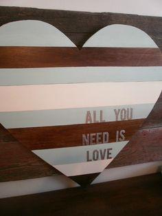 DIY Wood Panel Heart - My Crafty Spot