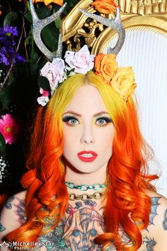 Ever so lovely and sweet as sugar Megan Massacre Modeling one of my floral antler peices. Image Michelle X Star MU: Megan  www.jessicalouise.com #antlercrown #antlers #antlergirl