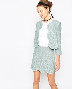 ASOS Teal Tweed matching piece