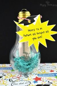 Are you looking for one of the best DIY graduation gifts around? Try this DIY Brightest Future Lightbulb Cash Holder. It's inexpensive and memorable!