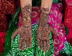 Mehndi on Bride's Palms