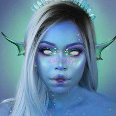 Arctic Crystal Mermaid Make-up🧜🏾♀️ – Colored Contacts Bloğ Cool Halloween Makeup, Halloween Looks, Halloween Party, Bloody Halloween, Scary Halloween, Special Makeup, Special Effects Makeup, Cosplay Makeup, Costume Makeup