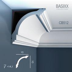 Corniche Moulure Cimaise Décoration de stuc ORAC Decor CB512 BASIXX  Profil décoratif du mur et du plafond   2 m   22,75 €