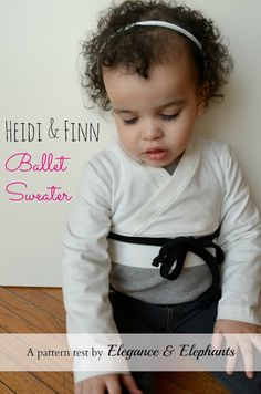 Recently, I had the opportunity to test the newest pattern by Heidi & Finn  . It is an adorable ballet sweater that is so easy to.