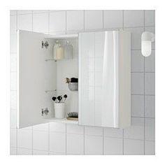LILLÅNGEN Dulap oglindă+2 uşi, alb - 60x21x64 cm - IKEA