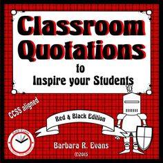 CLASSROOM QUOTATIONS to promote metacognition.  Great for discussions…