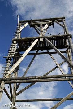 Old tower for the coal cableway