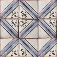 Palio 13 in Colonial Blue and Charcoal available at World Mosaic Tile | www.worldmosaictile.com