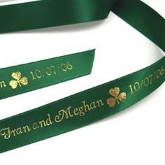 personalized ribbon tied to a jingle bell onto, for wedding ceremony