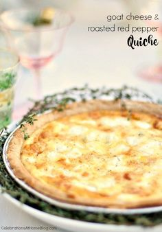 Try this goat cheese roasted red pepper quiche recipe for a delicious brunch. It's a great vegetarian option too.