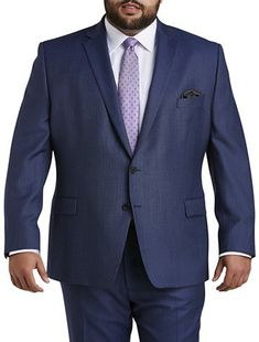 Ralph by Ralph Lauren Comfort Flex Suit Jacket - Executive Cut This jacket features natural stretch lining for all-day comfort and water-resistant wool to keep stains at bay Coordinate with matching suit pants for a polished wool 54 vi Big And Tall Suits, Big And Tall Stores, Mens Big And Tall, Men's Suit Separates, Cheap Mens Fashion, Wool Suit, Polished Look, Affordable Fashion, Mens Suits