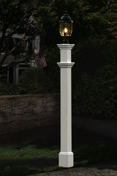 Portsmouth 74 Post New England Arbors Portsmouth Lamp Post In White Driveway Lighting, Outdoor Lighting, Outdoor Decor, Outdoor Lamps, Lighting Ideas, Outdoor Post Lights, Coastal Lighting, Landscape Lighting, Solar Light Crafts