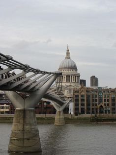 St. Paul's with the Millennium Bridge, London, England   - Meaghan O'Connor by APIstudyabroad, via Flickr