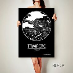 TAMPERE Finland CANVAS Map Tampere Finland Poster City Map | Etsy Cuba Art, Poster City, Hanging Canvas, Modern Frames, Us Map, Map Design, Canvas Prints, Art Prints, N21
