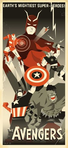 I think I need this in a poster. On my wall. Now please.  Art Deco Avengers by 2D-Assassin in Art Deco Design Inspiration: Part 1
