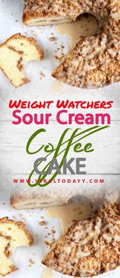 Sour Cream Coffee Cake – Page 2 – All about Your Power Recipes Weight Watchers Breakfast, Weight Watchers Diet, Weight Watchers Desserts, Weigh Watchers, Diet Cake, Ww Recipes, Cake Recipes, Sour Cream Coffee Cake, Healthy Recipes For Diabetics