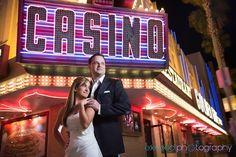 Exceed Photography - Las Vegas Fremont Street Photos, Creative Wedding Photos Las Vegas