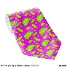 modern paisley in flashy colors tie