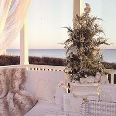 Perfect Christmas porch decor for our future beach house