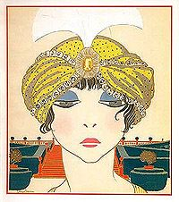 Poiret he opened is own salon  in 1904. Poiret promoted turbans, harem pants and the hobble skirt. Artists Paul Iribe and Georges Lepape were commissioned by Poiret to illustrate his creations in Les Robes de Paul Poiret and Les Choses de Paul Poiret.