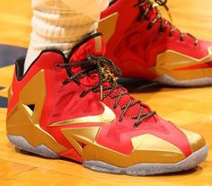 the latest 55e71 653e3 Here is a look at the Nike Lebron 11 Red Gold Ring Ceremony