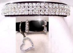 Who can resist leather dog collars with bling? Make a blingtastic fashion statement and keep your doggy safe.