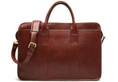 Leather Zip-Top Briefcase for Men, Zippered Briefcase · Lotuff Leather