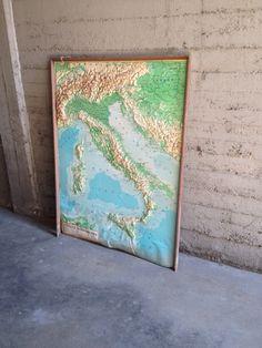 Cartina del Italia anni70#cartinageografica#anni70#italia