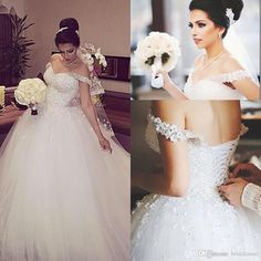 Wholesale vintage wedding gown, wedding dress china and wedding dress websites on DHgate.com are fashion and cheap. The well-made 2017 wedding dress off the shoulder sparkling crystal beads with 3d flower lace lace-up back court train long bridal ball gown sold by bridalmuse is waiting for your attention.