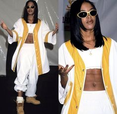 Picture of aaliyah ql looks estilo anos 90 t Hip Hop Outfits, Style Outfits, Cute Outfits, Fashion Outfits, Womens Fashion, Throwback Outfits, Fashion Shoot, Grunge Outfits, 90s Fashion Grunge